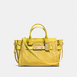 COACH COACH SWAGGER CARRYALL - YELLOW/LIGHT GOLD - F35325