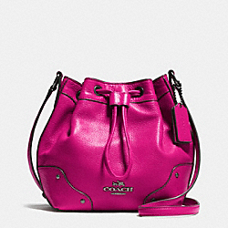 COACH BABY MICKIE DRAWSTRING SHOULDER BAG IN GRAIN LEATHER - QBCBY - F35363