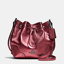COACH BABY MICKIE DRAWSTRING SHOULDER BAG IN GRAIN LEATHER - QBE42 - F35363