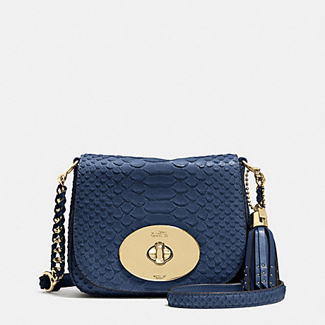 COACH LIV CROSSBODY IN PYTHON EMBOSSED LEATHER -  LIGHT GOLD/DENLIGHT GOLD - f35403