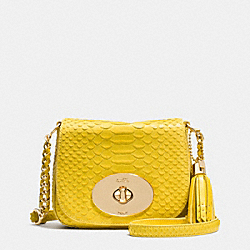 COACH LIV CROSSBODY IN PYTHON EMBOSSED LEATHER - LIYLW - F35403