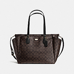 COACH BABY BAG IN SIGNATURE CANVAS - LIGHT GOLD/BROWN/BLACK - F35414