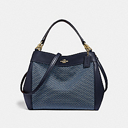 SMALL LEXY SHOULDER BAG WITH LEGACY PRINT - BLUE/MULTI/LIGHT GOLD - COACH F35427