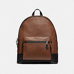 WEST BACKPACK - SADDLE/BLACK ANTIQUE NICKEL - COACH F35429