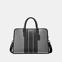 BOND BRIEF - HEATHER GREY/BLACK ANTIQUE NICKEL - COACH F35430