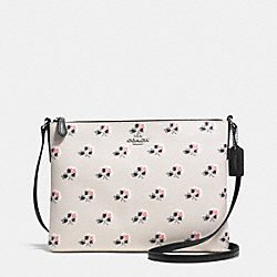 AMERICANA CROSSBODY IN PRINTED COATED CANVAS - f35453 - BRAMBLE ROSE