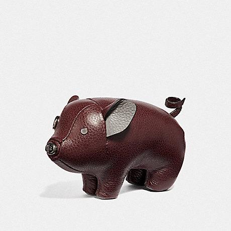 COACH PIG PAPERWEIGHT - OXBLOOD/BLACK ANTIQUE NICKEL - F35478