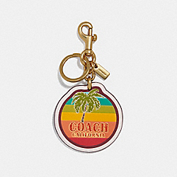 CALIFORNIA BAG CHARM - CHALK/GOLD - COACH F35486
