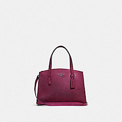 CHARLIE CARRYALL 28 - METALLIC BERRY MULTI/GUNMETAL - COACH F35515