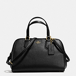 COACH NOLITA SATCHEL IN PEBBLE LEATHER - LIGHT GOLD/BLACK - F35650