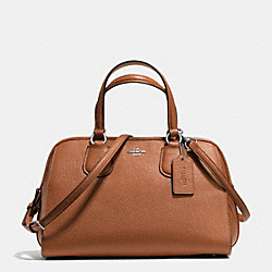 NOLITA SATCHEL IN PEBBLE LEATHER - f35650 - SILVER/SADDLE