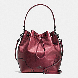 MICKIE DRAWSTRING SHOULDER BAG IN GRAIN LEATHER - f35684 - QBE42