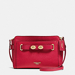 COACH BLAKE CROSSBODY IN BUBBLE LEATHER - IMITATION GOLD/CLASSIC RED - F35688