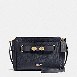 COACH BLAKE CROSSBODY IN BUBBLE LEATHER - IMITATION GOLD/MIDNIGHT - F35688