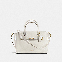 BLAKE CARRYALL IN BUBBLE LEATHER - f35689 - IMITATION GOLD/CHALK