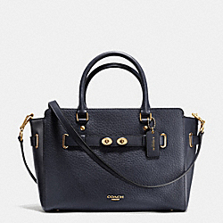 COACH BLAKE CARRYALL IN BUBBLE LEATHER - IMITATION GOLD/MIDNIGHT - F35689