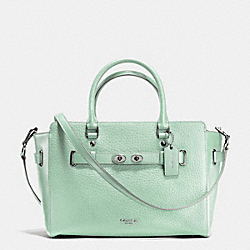 BLAKE CARRYALL IN BUBBLE LEATHER - f35689 - SILVER/SEAGLASS