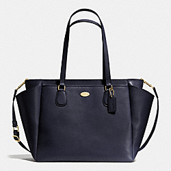 BABY BAG IN CROSSGRAIN LEATHER - LIGHT GOLD/MIDNIGHT - COACH F35702