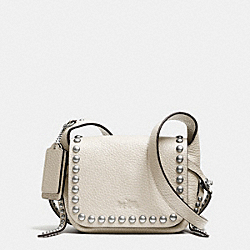 COACH RIVETS DAKOTAH 14 CROSSBODY IN PEBBLE LEATHER - WRCRM - F35750