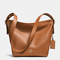 DUFFLETTE IN PEBBLE LEATHER - LIGHT GOLD/SADDLE - COACH F35775