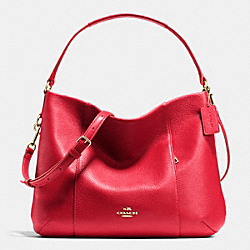 COACH EAST/WEST ISABELLE SHOULDER BAG IN PEBBLE LEATHER - IME8B - F35809