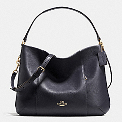 EAST/WEST ISABELLE SHOULDER BAG IN PEBBLE LEATHER - f35809 - IMITATION GOLD/MIDNIGHT