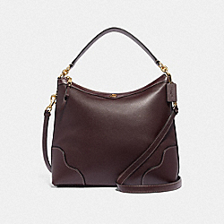 IVIE HOBO - OXBLOOD 1/LIGHT GOLD - COACH F35846