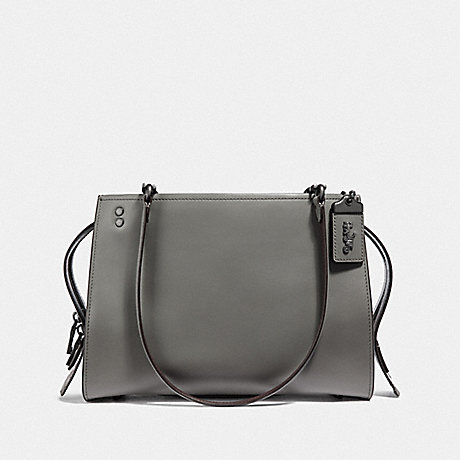COACH ROGUE SHOULDER BAG - HEATHER GREY/BLACK COPPER - F35863