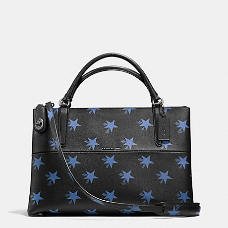 COACH f35875 BOROUGH BAG IN STAR CANYON PRINT COATED CANVAS QB/BLUE MULTICOLOR