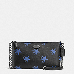 COACH QUINN CROSSBODY IN STAR CANYON PRINT COATED CANVAS - QB/BLUE MULTICOLOR - F35877