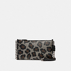 COACH QUINN CROSSBODY IN OCELOT PRINT HAIRCALF - SILVER/GREY MULTI - F35878