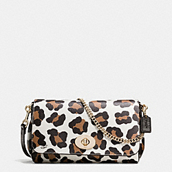 COACH MINI RUBY CROSSBODY IN OCELOT PRINT COATED CANVAS - LIGHT GOLD/CHALK MULTI - F35880
