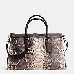COACH MORGAN SATCHEL IN PYTHON EMBOSSED LEATHER - LIGHT GOLD/GREY MULTI - F35881