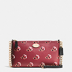 COACH QUINN CROSSBODY IN BRAMBLE ROSE PRINT LEATHER - IMBYM - F35882