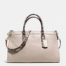 COACH MORGAN SATCHEL IN EXOTIC TRIM LEATHER - IMITATION GOLD/GREY BIRCH/CHALK - F35887