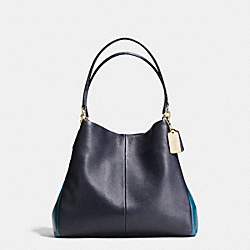 COACH PHOEBE SHOULDER BAG IN EXOTIC TRIM LEATHER - IMITATION GOLD/MIDNIGHT - F35893