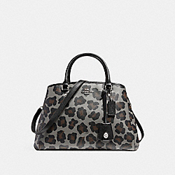 COACH SMALL MARGOT CARRYALL IN OCELOT PRINT COATED CANVAS - SILVER/GREY MULTI - F35897