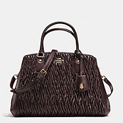 COACH SMALL MARGOT CARRYALL IN TWISTED GATHERED LEATHER - IMOXB - F35910