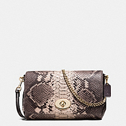 COACH MINI RUBY CROSSBODY IN PYTHON EMBOSSED LEATHER - LIGHT GOLD/GREY MULTI - F35916