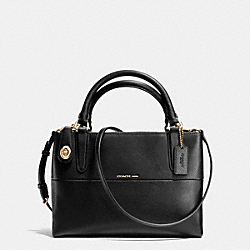 MINI BOROUGH BAG IN CROSSGRAIN LEATHER - LIGHT GOLD/BLACK - COACH F35918