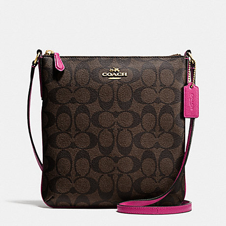 COACH f35940 NORTH/SOUTH CROSSBODY IN SIGNATURE IME9T