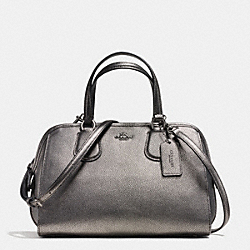 NOLITA SATCHEL IN METALLIC PEBBLE LEATHER - f35964 - ANTIQUE NICKEL/GUNMETAL