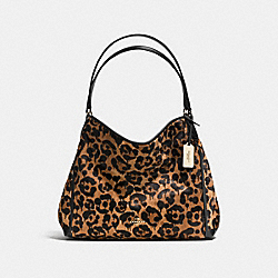 EDIE SHOULDER BAG WITH OCELOT PRINT - WILD BEAST/LIGHT GOLD - COACH F35977