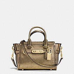 COACH SWAGGER 20 IN METALLIC PEBBLE LEATHER - f35990 - LIGHT GOLD/GOLD