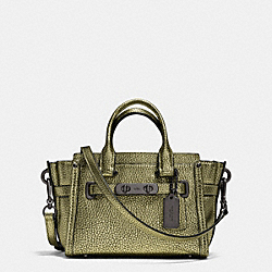 COACH SWAGGER 20 IN METALLIC PEBBLE LEATHER - f35990 - BLACK ANTIQUE NICKEL/METALLIC GREEN