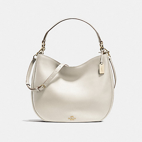 COACH f36026 MAE HOBO IN GLOVETANNED LEATHER LIGHT GOLD/CHALK