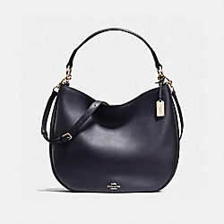 COACH NOMAD HOBO IN GLOVETANNED LEATHER - f36026 - LIGHT GOLD/NAVY