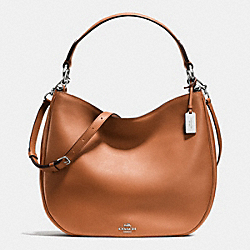 COACH NOMAD HOBO IN GLOVETANNED LEATHER - f36026 - SILVER/SADDLE