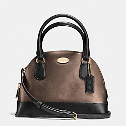 COACH MINI CORA DOMED SATCHEL IN BICOLOR METALLIC CROSSGRAIN LEATHER - IME8Y - F36054