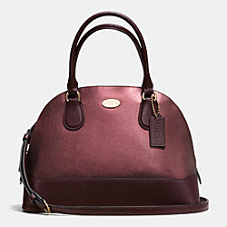 COACH CORA DOMED SATCHEL IN BICOLOR METALLIC CROSSGRAIN LEATHER - IME8I - F36057